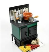 K's Collection Miniature Kitchen Stoves Green Hand Made Toy