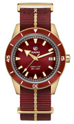 Rado Captain Cook Automatic Bronze Burgundy Dial Nato Band Menand039s Watch R32504407