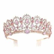 Baroque Queen King Crystal Tiara And Crown With Comb Bridal Wedding Accessories