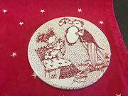 Vintage Nymolle Bjorn Wiinblad Tile Plaque In Red The Month September