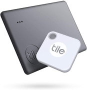 Tile Starter Pack 1 Mate 1 Slim Bluetooth Tracker Easily Find All Your Stuff