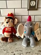 Disney Parks Store Plush Bean Bag Beanie Dumbo And Timothy Mouse