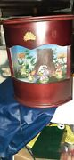 Vtg Cherry Wood Music Box Lighted With Fairys Movement Scene An Plays Edelweiss