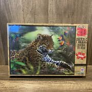 Mb Super 3d Leopard Puzzle Lazy Afternoon 500 Pc 24 X 18 New Sealed Box