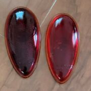 Vintage Stimsonite Lens Reflector Tail Light Duo Lamp A Automobile Glass Red
