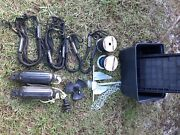 Fishing Boat Gear Anchor Pole, Anchors, Lines, Life Jackets, Paddle, Boxes