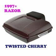 Twisted Cherry Razor Tour Pack Luggage Trunk For 1997-20 Harley Road Street