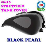 Black Pearl Stretched Tank Cover For Harley 08-20 Street Glide And Road Glide