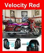 Velocity Red Lower Vented Fairing Glove Box For Harley Road Glide 1983-2019
