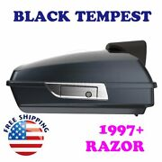 Black Tempest Tour Pack Pak Luggage Trunk For 1997-20 Harley Road Street Electra