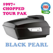 Black Pearl Chopped Tour Pack Pak Luggage For 97-2020 Harley Street Road Glide