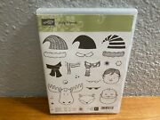 New Stampin Up Jolly Friends Christmas Santa Elf 21 Clear Mount Stamps L0121