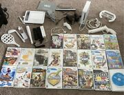 Nintendo Wii Console Lot With Games And Accessories