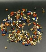 Lot Of Ancient Antique Old Himalayan Prayer Amulet Pendant Jewelry Beads