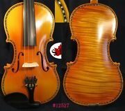 Best One Piece Back Flamed Professional 4/4 Violinrich And Sweet Sound 12527