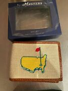 Masters By Smathers And Branson Needlepoint Bi-fold Wallet Augusta Rare
