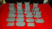 Mth Realtrax Track Trestle Riser Misc. Piers W/ Base 15 Piece Lot W/ Extras