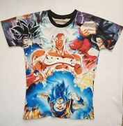 All Over Print Dragon Ball Z Vintage Tee T Shirt Size L Eastern Asia Unbranded