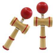 2pcs Kendama Coordinate Ball Traditional Wooden Game Skill Kids Educational Toy