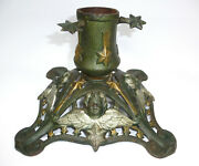 Christmas Tree Stand About 1900 Iron Angel