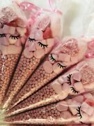 Pink Sweet Cones Eyelashes Eyelash Candy Sweets Party Filled Pamper Gift Cone