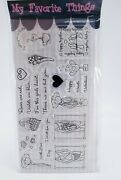 My Favorite Things Valentines Day Stamp Set Latte Hearts Balloons Candy New