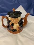Antique Genuine Staffordshire Toby Teapot 19th Century Charter And Sons England