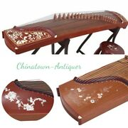 Concert Grade Carved Designs Chinese 64 21-string Guzheng Zither Harp Opt.2868