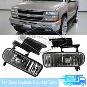 2x Fog Light For Chevy Silverado Suburban Tahoe Clear Lamps Daytime Running Lamp