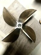 Rolla Boat Cleaver Propeller Lh 18 X 30  4 Blade Prop Surface Drive 5345