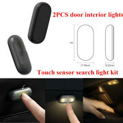 2pcs Black Automatic Touch-sensing Object Search Light Set In Capsule Car Door