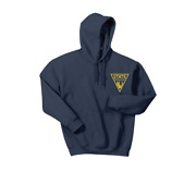 Njsp New Jersey State Police Blue Sweatshirt Hoodie Gold Triangle Over Heart