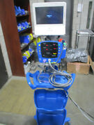 Ge Dinamap Carescape V100 And Capsule Neuron Monitors On Rolling Stand More