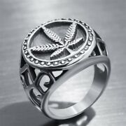 Fashion Mens Rings Unique Biker Party 925 Silver Punk Jewelry Gift Size 6-14