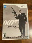 James Bond 007 Quantum Of Solace Nintendo Wii, 2008 Cib- Tested And Works