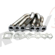 Rev9 Hp Series Equal Length Turbo Manifold Stainless T4 For Toyota Supra 2jzgte