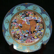 8 Qianlong Marked China Palace Colour Enamels Porcelain Dragon Kylin Plate Tray