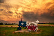 Farm Photography Print - Picture Of Tractor Painted As Texas State Flag