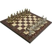 Metal Casting Chess Set Ottoman Order Army No 3 King Height 7.5 Cm