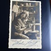 Anton Lang Studio Potter And Actor Signed Autographed Postcard.