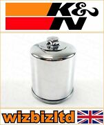 Kawasaki Zg1400 Concours Abs 2008-2011 [kandn Chrome Replacement Oil Filter]