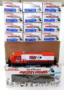 Lionel O 6-8773 Mickey Mouse Express U36b Powered Diesel W/ 12 Cars Nice Ms