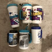 Vintage Hardees Chick Fil A Coca Cola Nfl Travel Mug Cup Refillable Lot Of 6 90s
