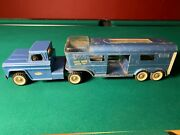 Vintage Structo Vista Dome Horse Trailer And Semi Pressed Metal Toy