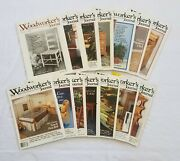 Vintage The Woodworkers Journal Diy Woodworking Magazines 1986-1993 Lot Of 14