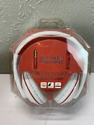 Nakamichi Nk780 White Red Over Ear Wired Headphones Mic Remote Precision Sound