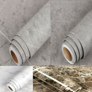 Paper Self Adhesive Contact Marble Thick Vinyl Decor Waterproof Home Wallpaper