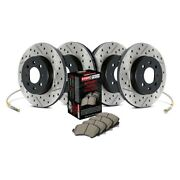 For Volkswagen Jetta 12-16 Brake Kit Sport Drilled And Slotted 1-piece Front And