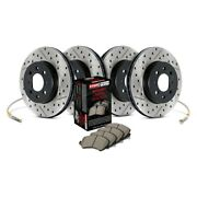 For Infiniti G35 03-04 Sport Drilled And Slotted 1-piece Front And Rear Brake Kit
