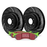 For Bmw X5 07-10 Ebc Stage 3 Truck And Suv Dimpled And Slotted Rear Brake Kit